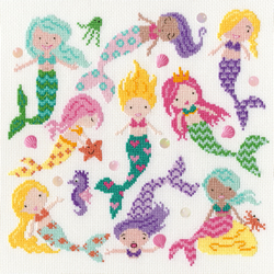 Borduurpakket Dale Simpson - Slightly Dotty Mermaids - Bothy Threads
