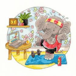 Borduurpakket Simon Taylor-Kielty - Elly Morning Exercise - Bothy Threads
