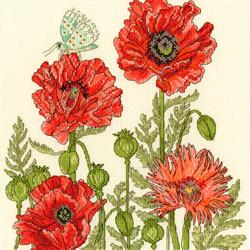 Borduurpakket Fay Miladowska - Poppy Garden - Bothy Threads