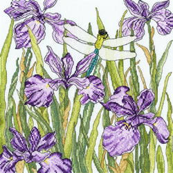 Borduurpakket Fay Miladowska - Iris Garden - Bothy Threads