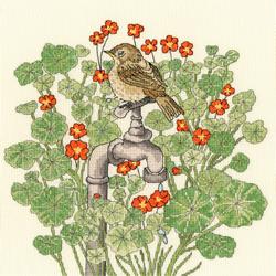 Borduurpakket Fay Miladowska - Nasturtium Garden - Bothy Threads