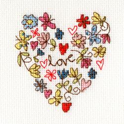 Borduurpakket Kim Anderson - Sweet Heart Card - Bothy Threads