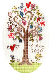 Borduurpakket Kim Anderson - Sweet Tree Card - Bothy Threads