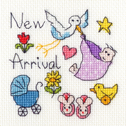 Borduurpakket June Armstrong - New Baby Card - Bothy Threads