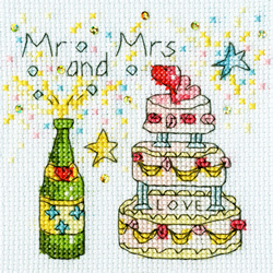 Borduurpakket Amanda Loverseed - Cheers Card - Bothy Threads