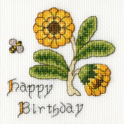 Borduurpakket Marigold Card - Bothy Threads
