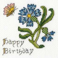 Borduurpakket Cornflower Card - Bothy Threads