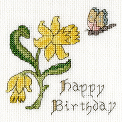 Borduurpakket Daffodil Card - Bothy Threads