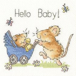 Borduurpakket Margaret Sherry - Hello Baby! - Bothy Threads