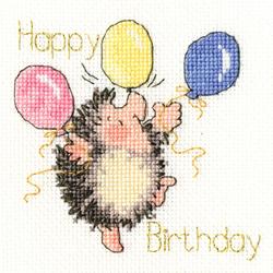 Borduurpakket Margaret Sherry - Birthday Balloons  - Bothy Threads