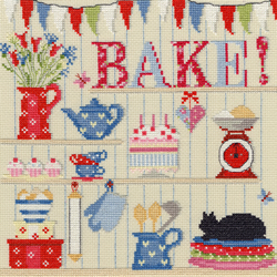 Borduurpakket Hobbies - Bake! - Bothy Threads