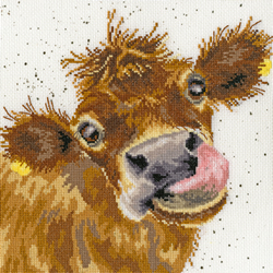 Borduurpakket Hannah Dale - Moo - Bothy Threads