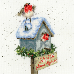 Borduurpakket Hannah Dale - Santa Please Stop Here - Bothy Threads