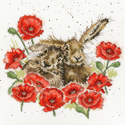 Borduurpakket Hannah Dale - Love Is In The Hare - Bothy Threads