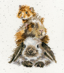 Borduurpakket Hannah Dale - Piggy In The Middle - Bothy Threads