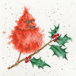 Borduurpakket Hannah Dale - Festive Feathers - Bothy Threads