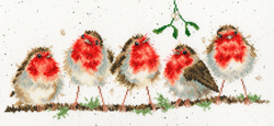 Borduurpakket Hannah Dale - Rockin' Robins - Bothy Threads