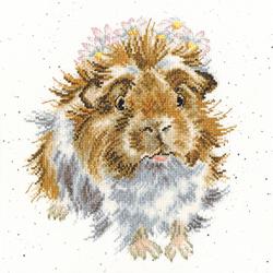 Borduurpakket Hannah Dale - Grinny Pig - Bothy Threads