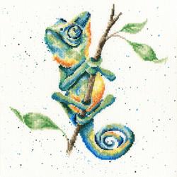 Borduurpakket Hannah Dale - One In A Chameleon - Bothy Threads