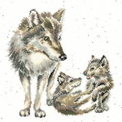 Borduurpakket Hannah Dale - Wolf Pack - Bothy Threads
