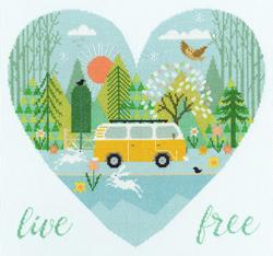 Borduurpakket Hilary Yafai - Live Free - Bothy Threads