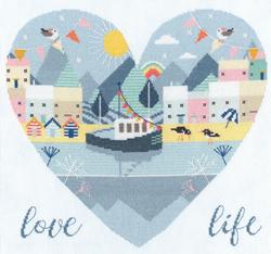 Borduurpakket Hilary Yafai - Love Life - Bothy Threads