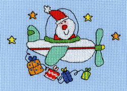 Borduurpakket Christmas Cards - Flying Home For Christmas - Bothy Threads