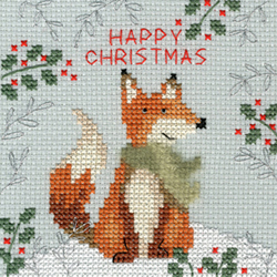 Borduurpakket Xmas Fox - Bothy Threads
