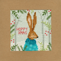 Borduurpakket Christmas Cards - Xmas Hare - Bothy Threads