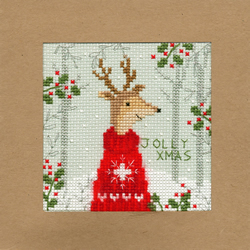 Borduurpakket Christmas Cards - Xmas Deer - Bothy Threads