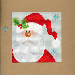 Borduurpakket Christmas Cards - Snowy Santa - Bothy Threads