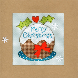Borduurpakket Christmas Cards - Snowy Pudding - Bothy Threads