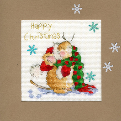 Borduurpakket Christmas Cards - Counting Snowflakes - Bothy Threads