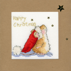 Borduurpakket Christmas Cards - Star Gazing - Bothy Threads
