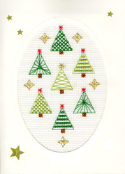 Borduurpakket Christmas Cards - Christmas Forest - Bothy Threads