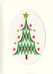Borduurpakket Christmas Cards - Christmas Tree - Bothy Threads