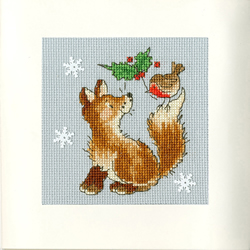 Borduurpakket Margaret Sherry - Christmas Friends - Bothy Threads