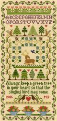 Borduurpakket Moira Blackburn - Green Tree - Bothy Threads