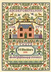 Borduurpakket Moira Blackburn - Country Cottage - Bothy Threads