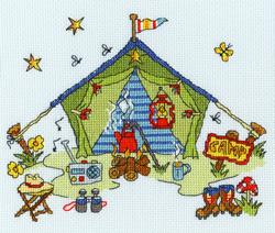 Borduurpakket Sew Dinky - Tent - Bothy Threads