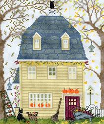 Borduurpakket New England Homes - Fall - Bothy Threads