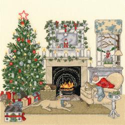 Borduurpakket Sally Swannell - Christmas Eve - Bothy Threads