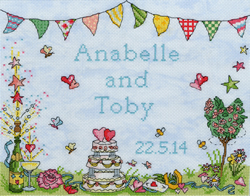 Borduurpakket Samplers - Wedding Celebration - Bothy Threads