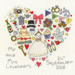 Borduurpakket Wedding Samplers - The Big Day! - Bothy Threads