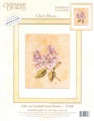 Borduurpakket Lilac on Cracked Linen - Candamar