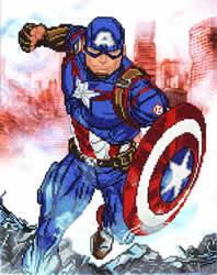 Marvel Avengers Cap in Action - Camelot Dotz