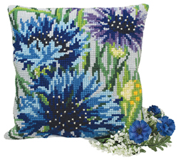 Kussen borduurpakket Bleuets - Collection d'Art