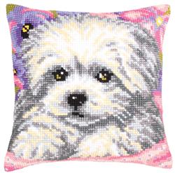 Kussen borduurpakket Little Doggy - Collection d'Art