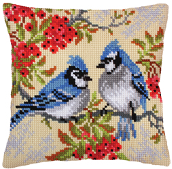 Kussen borduurpakket Blue Jays - Collection d'Art