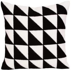Kussenborduurpakket Black-and-white - Collection d'Art